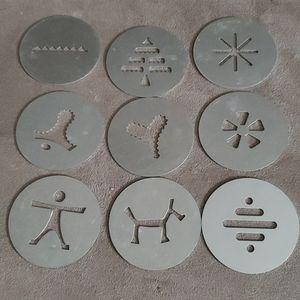 9 metal baking decor Stencils